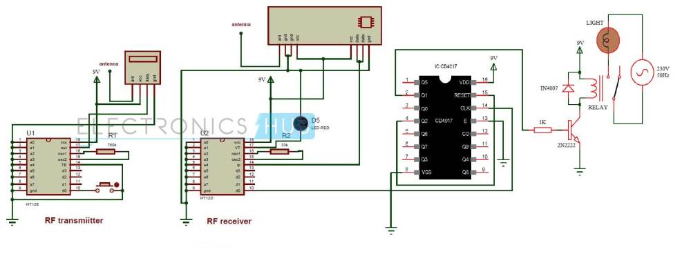 medium resolution of wireless remote control car circuit diagrams