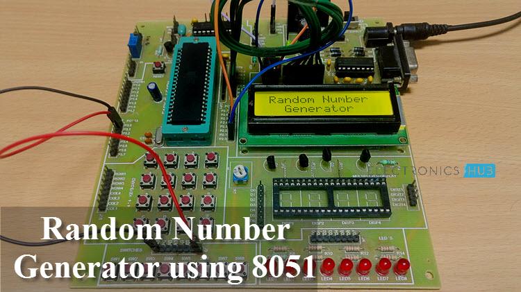 Random Number Generator Using 8051 Microcontroller Circuit Diagram