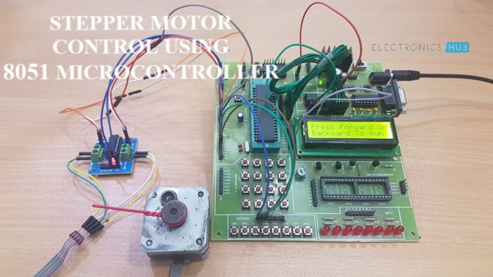 medium resolution of stepper motor control using 8051 microcontroller