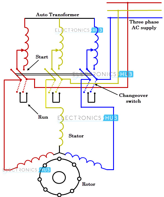 three phase motor wiring diagrams leviton cat6 jack diagram what is starter auto transformer
