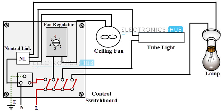 ceiling fan circuit working