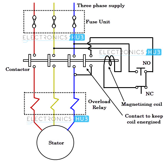 Dol Starter With Overload Wiring Diagram