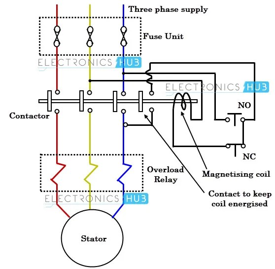 How to wire up a dol starter single phase motor caferacer1firts dol starter wiring diagram and schematics asfbconference2016 Gallery