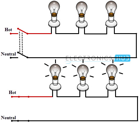 Wiring Lights In Series Diagram on 3 way switch multiple lights wiring diagram