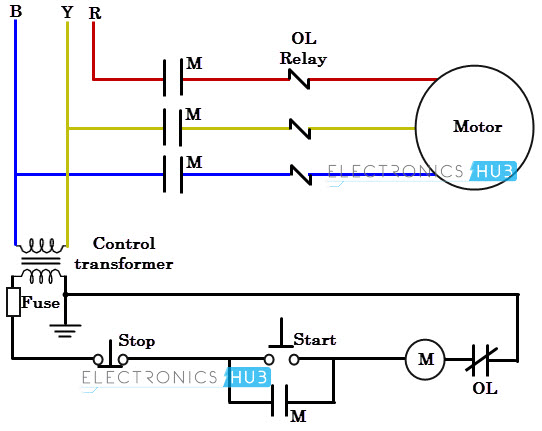 ac motor starter wiring diagram  murray 12hp ignition