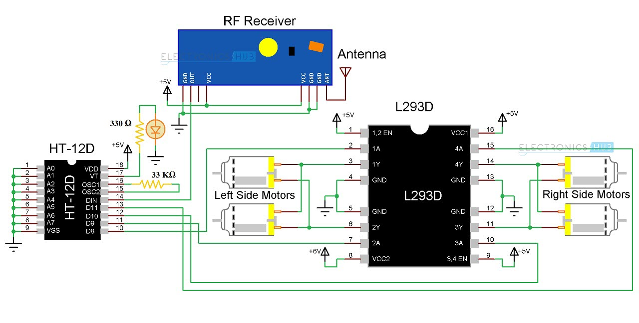 Electronic Hobby Circuits Infrared Detector Circuit Diagram Using
