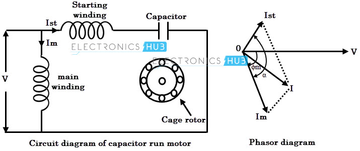 wiring diagram single phase motor with capacitor images of wiring