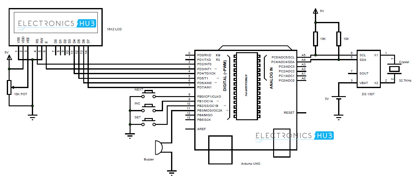 arduino circuit diagram explained