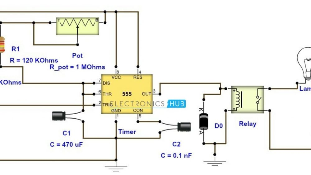 medium resolution of adjustable timer circuit diagram with relay output bedside lamp timer circuit schematic circuit diagram