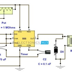 Relay Wiring Diagram 5 Pin 3 Circle Venn Graphic Organizer Timer All Data Adjustable Circuit With Output Washing Machine