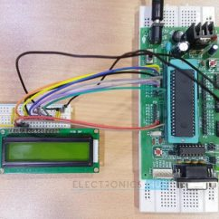 Door Access Control System Wiring Diagram Outdoor Lighting Temperature Controlled Dc Fan Using Atmega8 Microcontroller