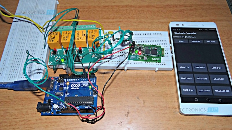 raspberry pi relay wiring diagram kenwood kvt 514 how to make arduino based home automation project via bluetooth?