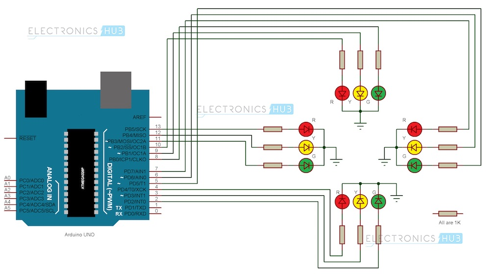 wiring diagram for arduino uno