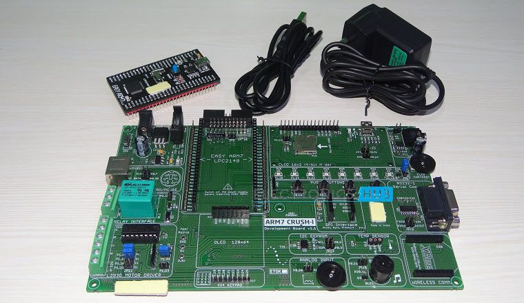 Blinking Led Using 8051 Electronic Circuits And Diagram