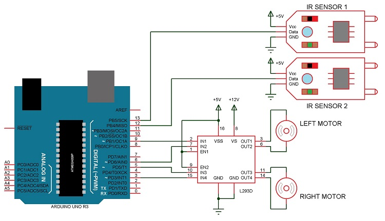 simple home electrical wiring diagram diagrams give information about arduino line follower robot