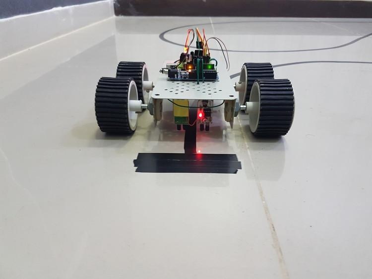 led circuit diagram electric door strike color wiring arduino line follower robot