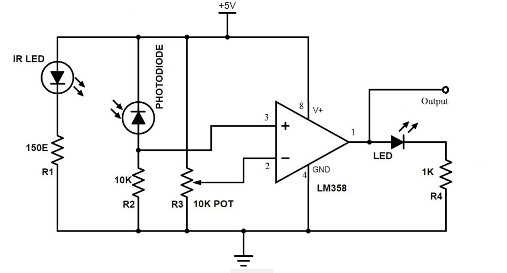 medium resolution of ir sensor circuit