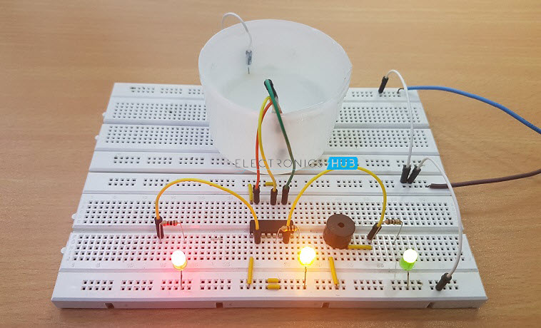 water level indicator project with circuit diagram 4 wire 02 sensor wiring simple alarm (3 tested circuits)