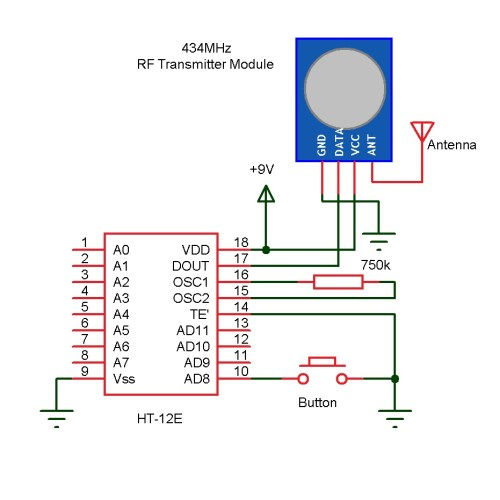 small resolution of wireless doorbell receiver circuit diagram