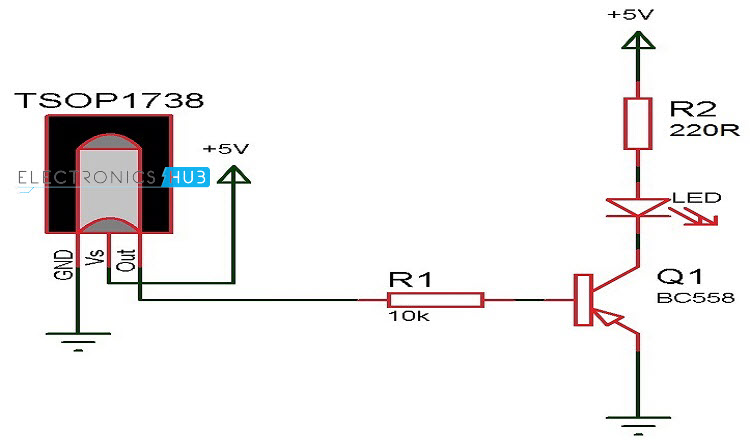 Infrared Receiver Circuit With Bpw41n