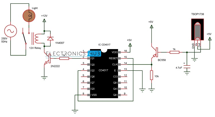 Circuit Clap Switch Circuit Circuit Diagram Of Remote Control Light