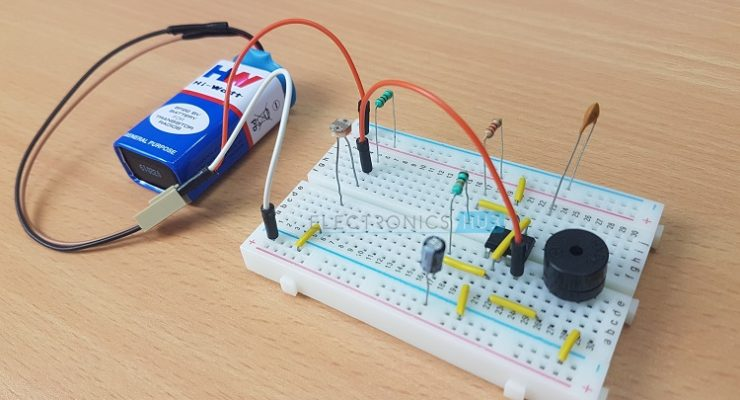Rain Detector Using 8051 Microcontroller Project With Circuit Diagram
