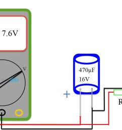 method 4 test a capacitor with a simple voltmeter [ 1103 x 747 Pixel ]