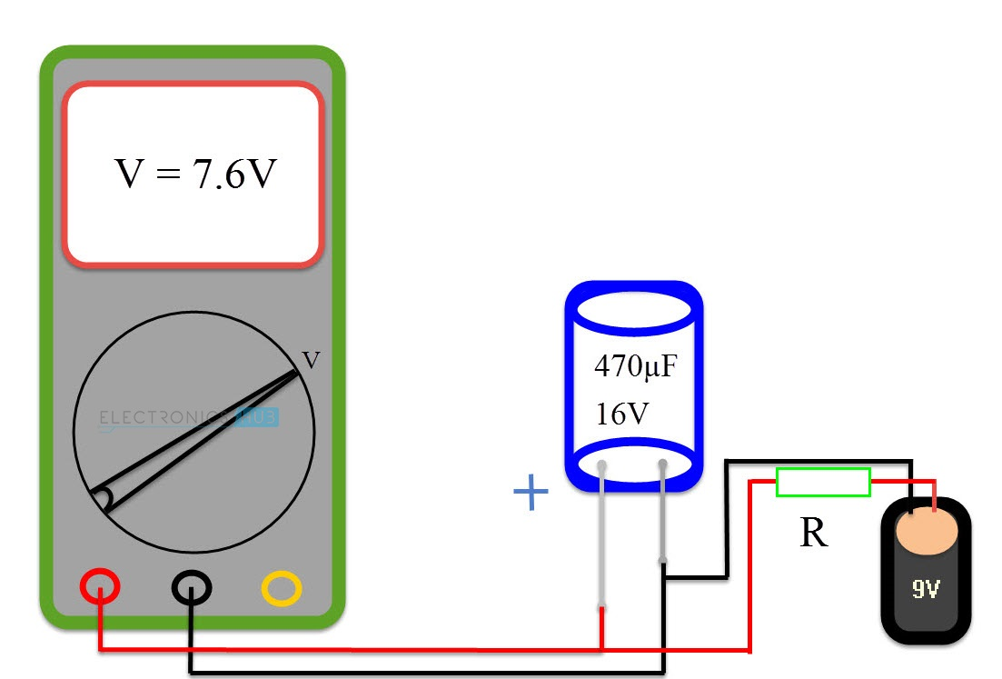 hight resolution of method 4 test a capacitor with a simple voltmeter