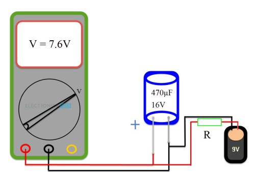 small resolution of method 4 test a capacitor with a simple voltmeter