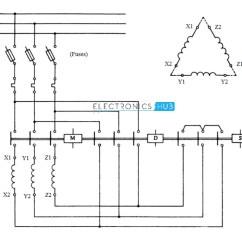 Three Phase Motor Star Delta Wiring Diagram Honda Goldwing 1800 Starter For 3 Semi Automatic