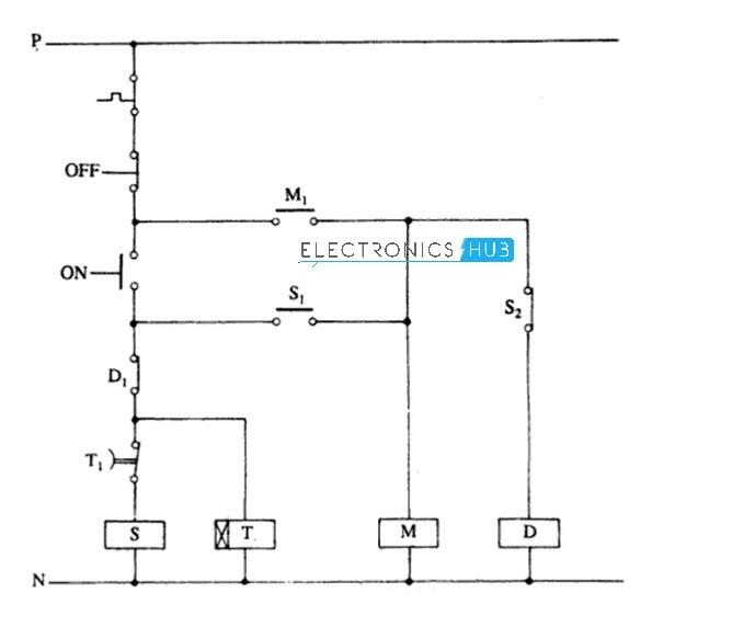 three phase motor star delta wiring diagram polaris scrambler 90 starter for 3 automatic control circuit