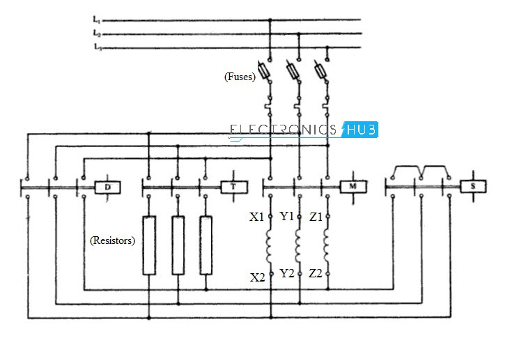 three phase motor star delta wiring diagram triumph tr7 starter for 3 automatic cct