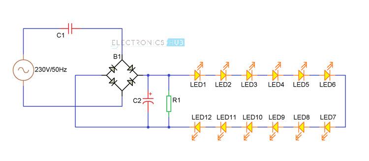 10 watt led driver circuit diagram msd 6a wiring chevy hei diy light bulb (led lamp)
