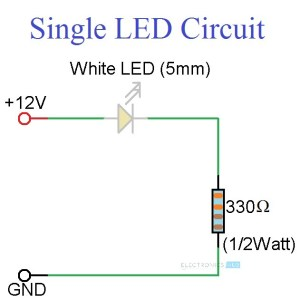 Simple LED Circuits: Single LED, Series LEDs and Parallel LEDs