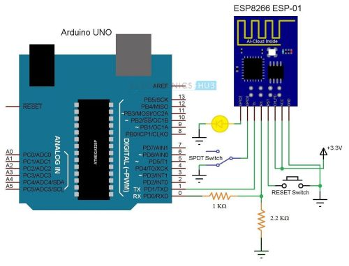 small resolution of getting started with esp8266 and arduino esp8266 arduino interface circuit diagram of esp8266 arduino interface