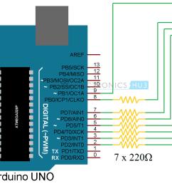 arduino 7 segment display interface circuit 1 [ 1460 x 858 Pixel ]
