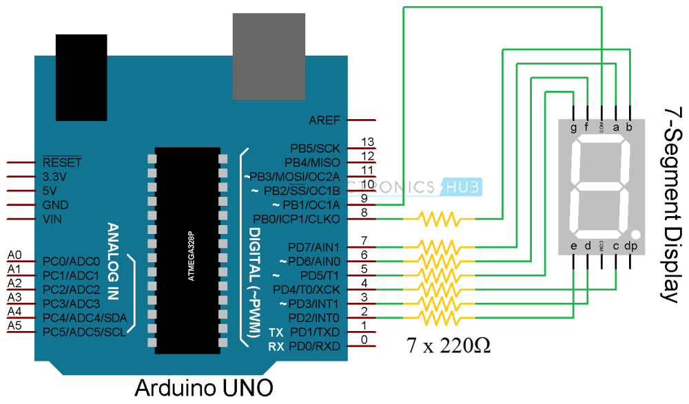 medium resolution of arduino 7 segment display interface circuit 1