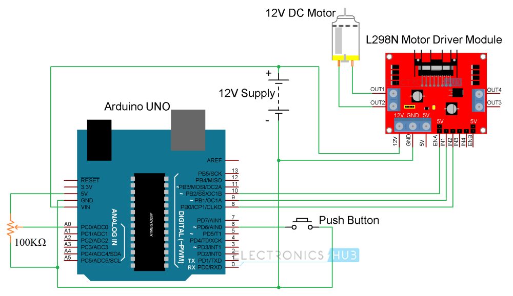 medium resolution of arduino dc motor control using l298n circuit diagram