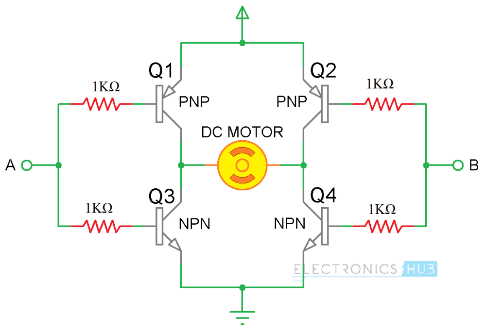 medium resolution of arduino dc motor control using l298n h bridge using transistors