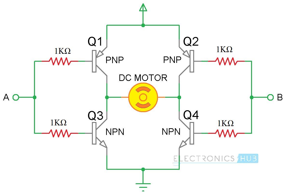 hight resolution of arduino dc motor control using l298n h bridge using transistors