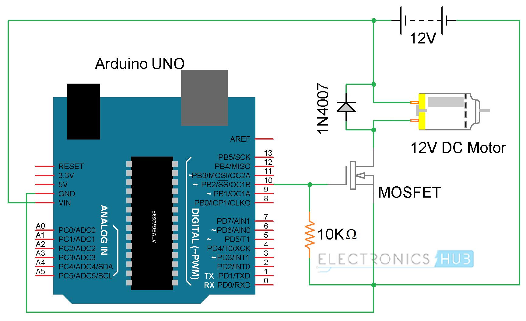 l298 h bridge circuit diagram cat5 wiring australia pwm dc motor controller using mosfets automotivegarage org