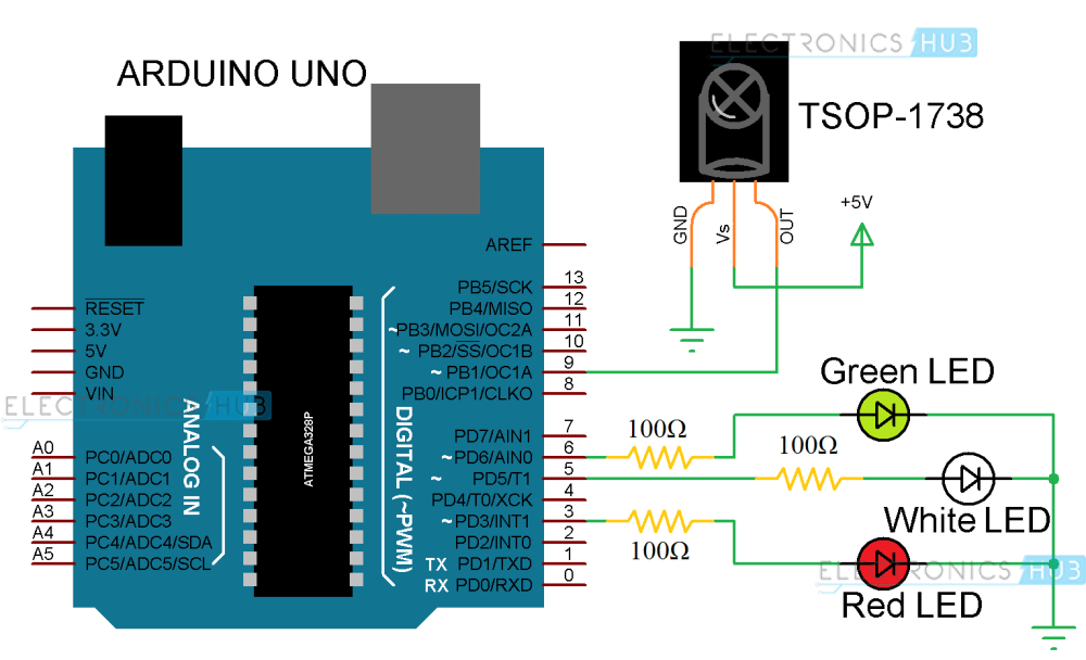 medium resolution of arduino ir receiver circuit diagram