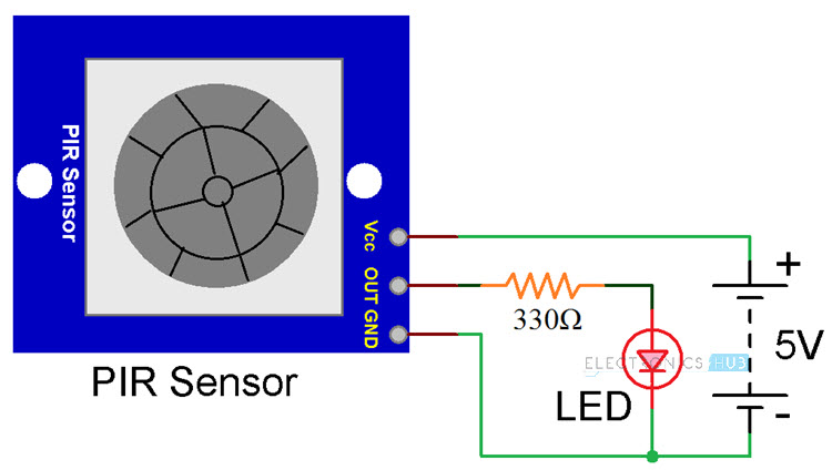 Pir Motion Sensor Circuit Diagram Also Pir Motion Sensor Wiring