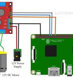 raspberry pi l298n motor driver module imterface circuit [ 1156 x 760 Pixel ]