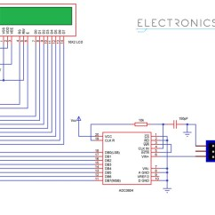 Digital Ac Ammeter Circuit Diagram 1970 John Deere 140 Wiring Voltmeter Using 8051 Analog To Converter Microcontroller And Voltage Sensor