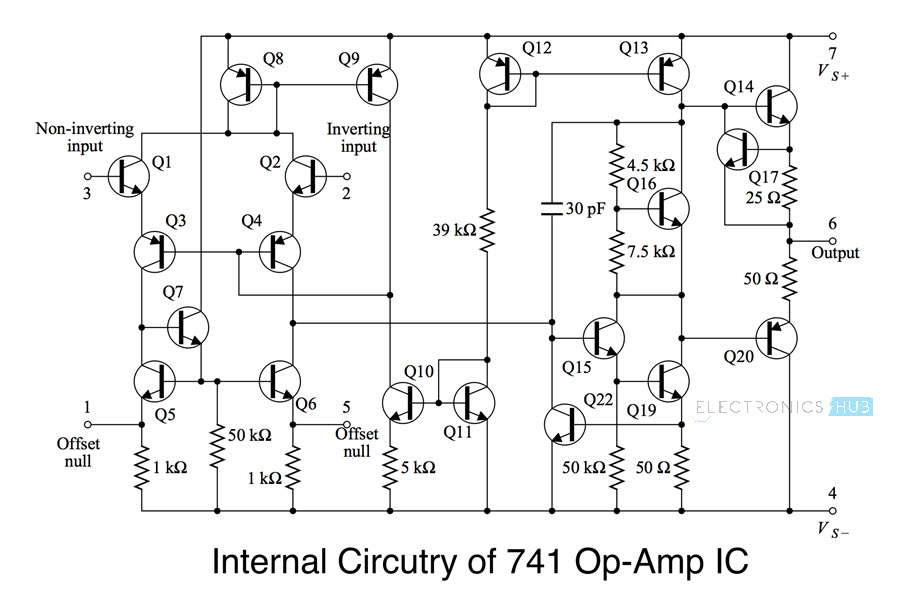 Schematic Diagram Of Operational Amplifier