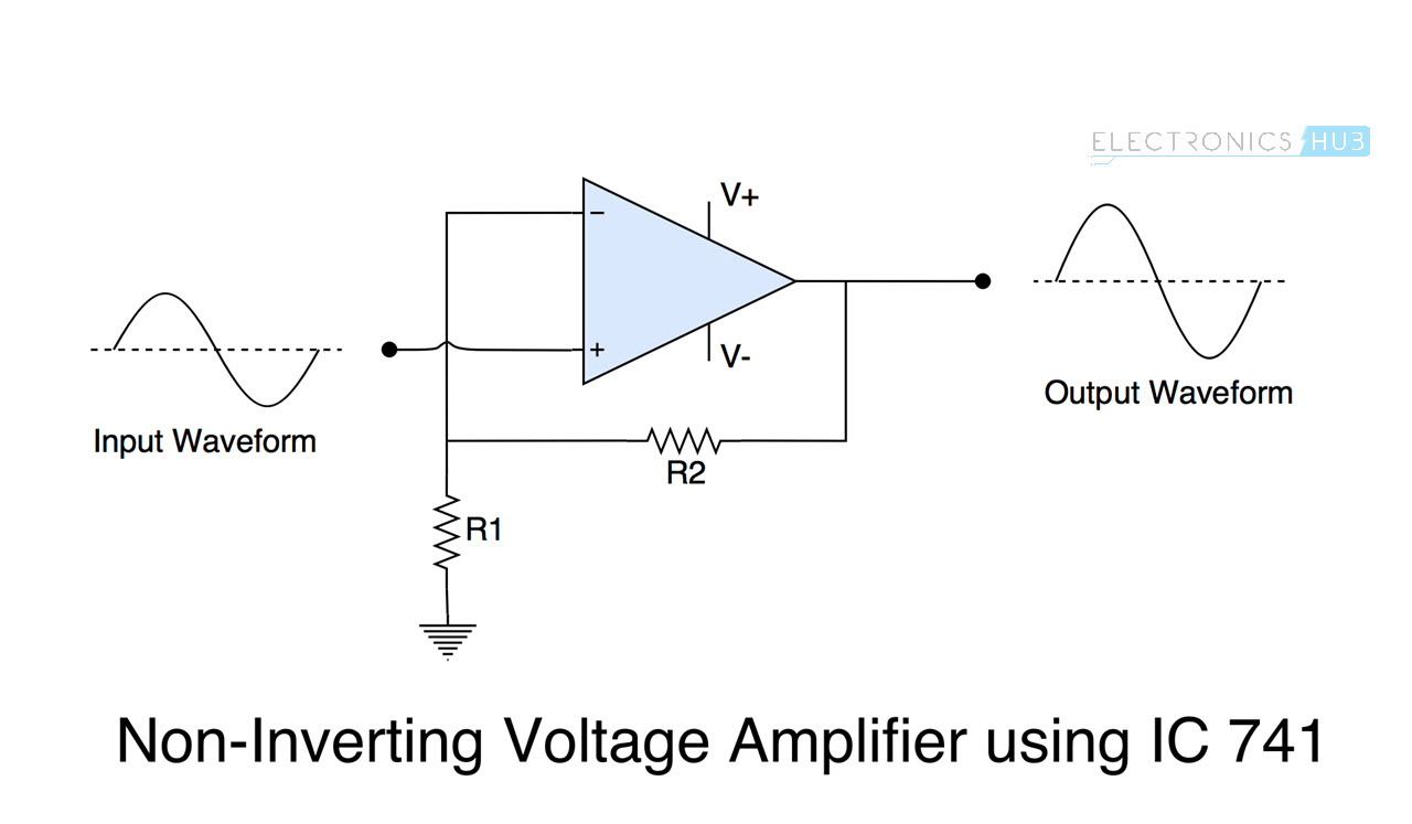 hight resolution of ic 741 op amp tutorial non inverting amp