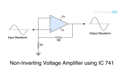 small resolution of ic 741 op amp tutorial non inverting amp