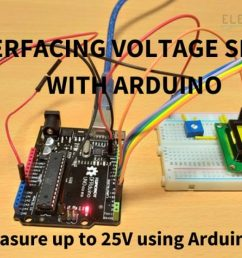 interfacing voltage sensor with arduino measure up to 25v using arduino [ 1280 x 720 Pixel ]