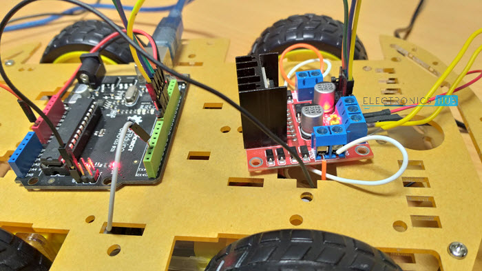 Bluetooth Controlled Robot using Arduino Circuit Design